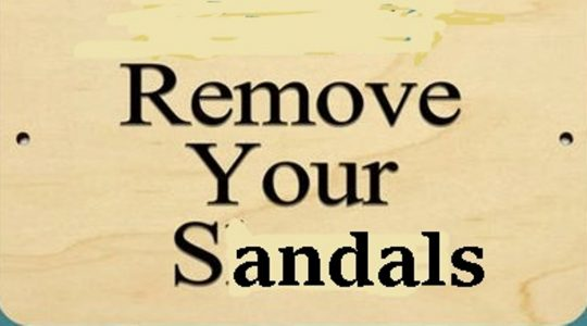 Remove Your Sandals