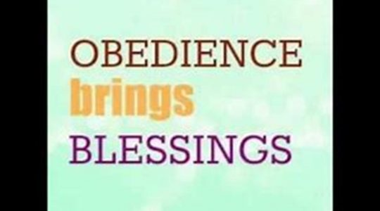 Blessing for Obedience