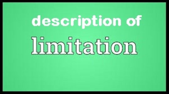 Description of Limitation