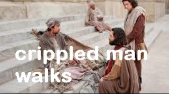 Crippled Man Walks