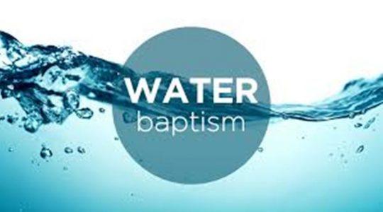"""Water Baptism"""