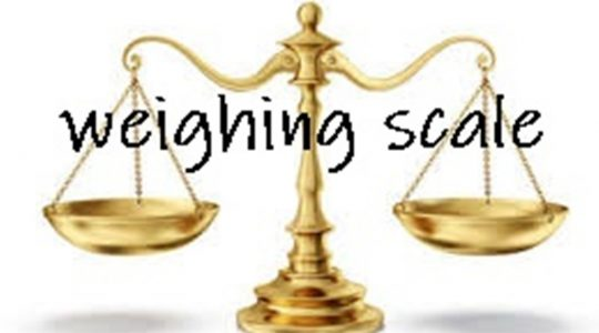 """""""Weighing Scale"""""""