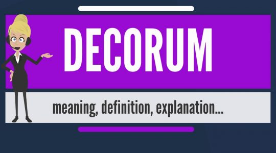 Decorum in Worship