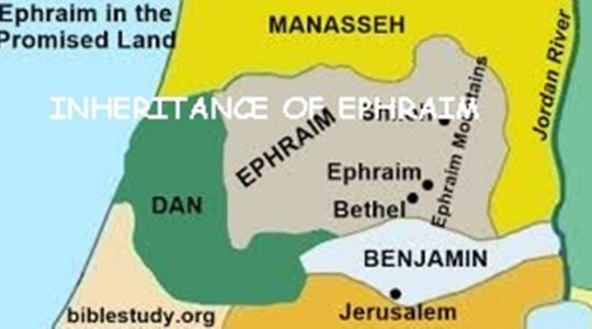 Inheritance of Ephraim