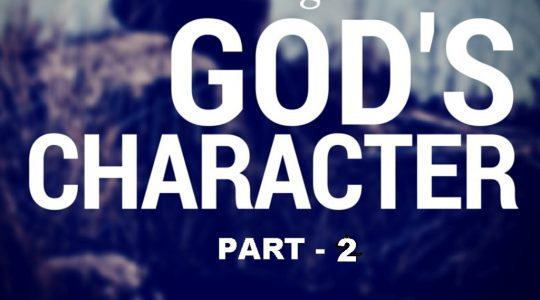 Character of God-Part 2