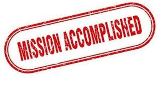 Mission Accomplished - Part 1